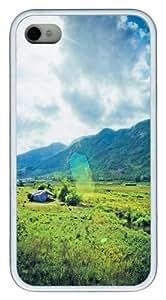 Hainan America Custom iPhone 4s/4 Case Cover TPU White Christmas gift