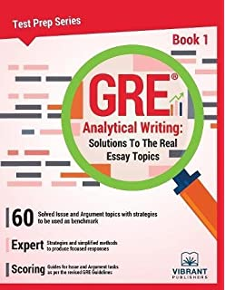 gre analytical writing solutions to the real essay topics book gre analytical writing solutions to the real essay topics book 1 test prep