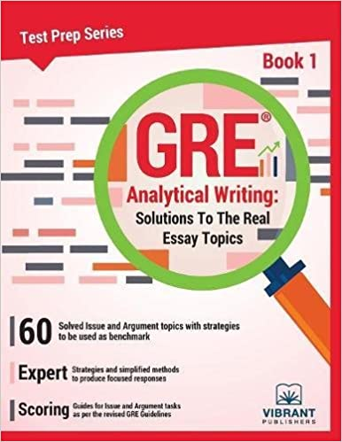 gre analytical writing solutions to the real essay topics book  gre analytical writing solutions to the real essay topics book 1 test prep series volume 1 third edition edition