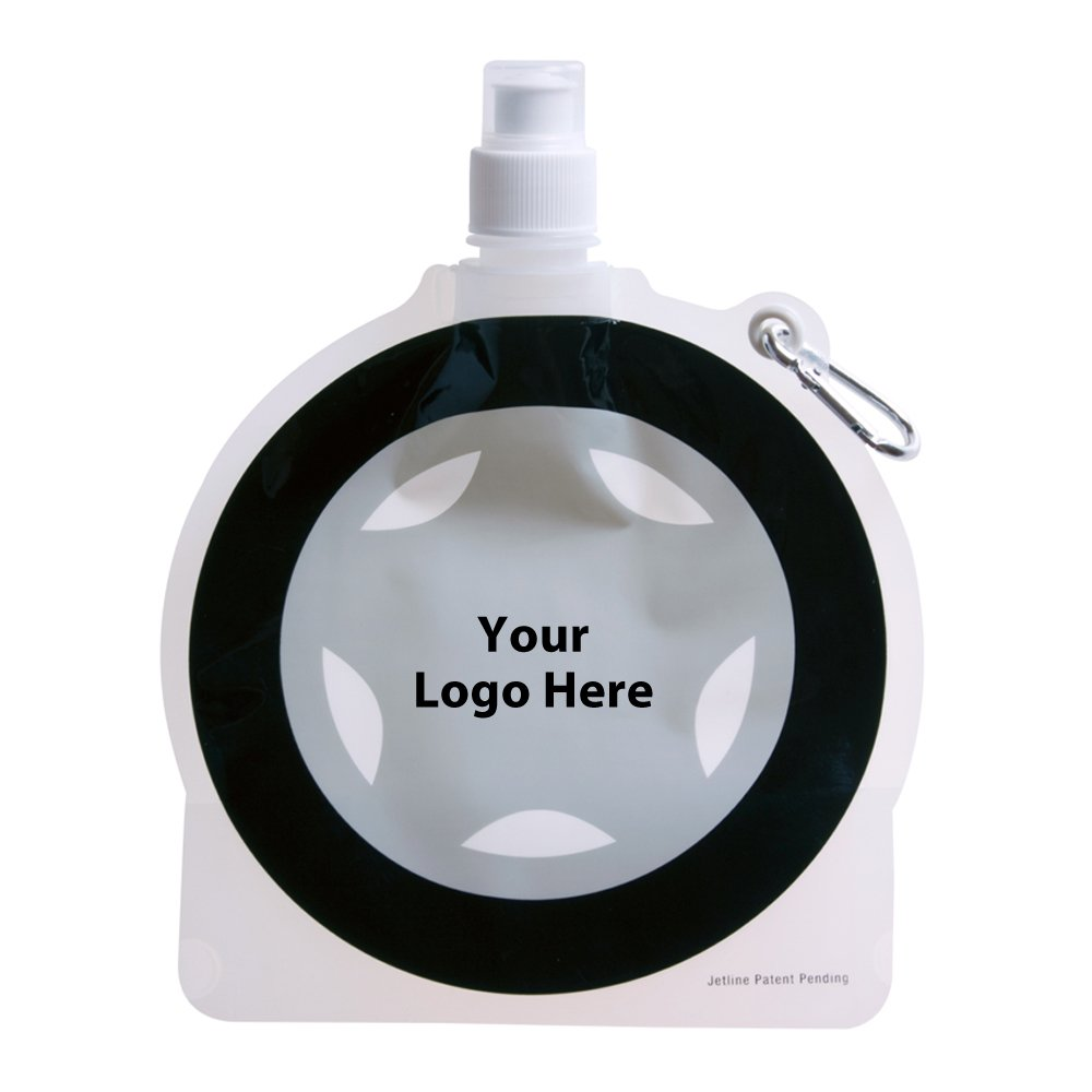 HydroPouch! 24 Oz. Tire Collapsible Water Bottle Patented - 100 Quantity - $3.40 Each - PROMOTIONAL PRODUCT / BULK / BRANDED with YOUR LOGO / CUSTOMIZED