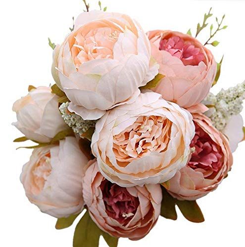(Mikash Artificial Silk Peony Bouquets Wedding Home Tion,Pack of 1 (Light Pink) | | Model WDDNG - 1490)