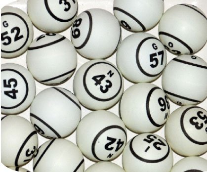 Single and Double Print White Bingo Ping Pong Balls for Bingo Cage Only MR CHIPS Numbered Bingo Balls Replacement 1.5 Inch