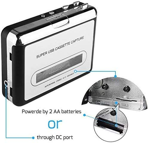 DIGITNOW Portatile registratore a Cassetta /& Audio Cassetta Nastro Walkman e Convertitore di Audiocassette in File Digitali MP3 Via USB,Compatibile Mac e Windows