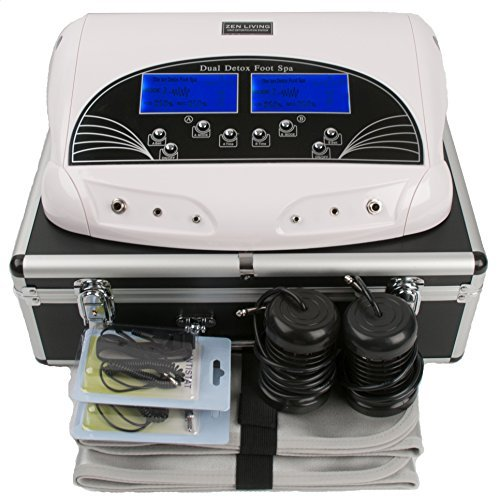 ZEN Living LCDSPA Dual LCD Ionic Cell Detox FOOT Cleanse SPA Machine with Case