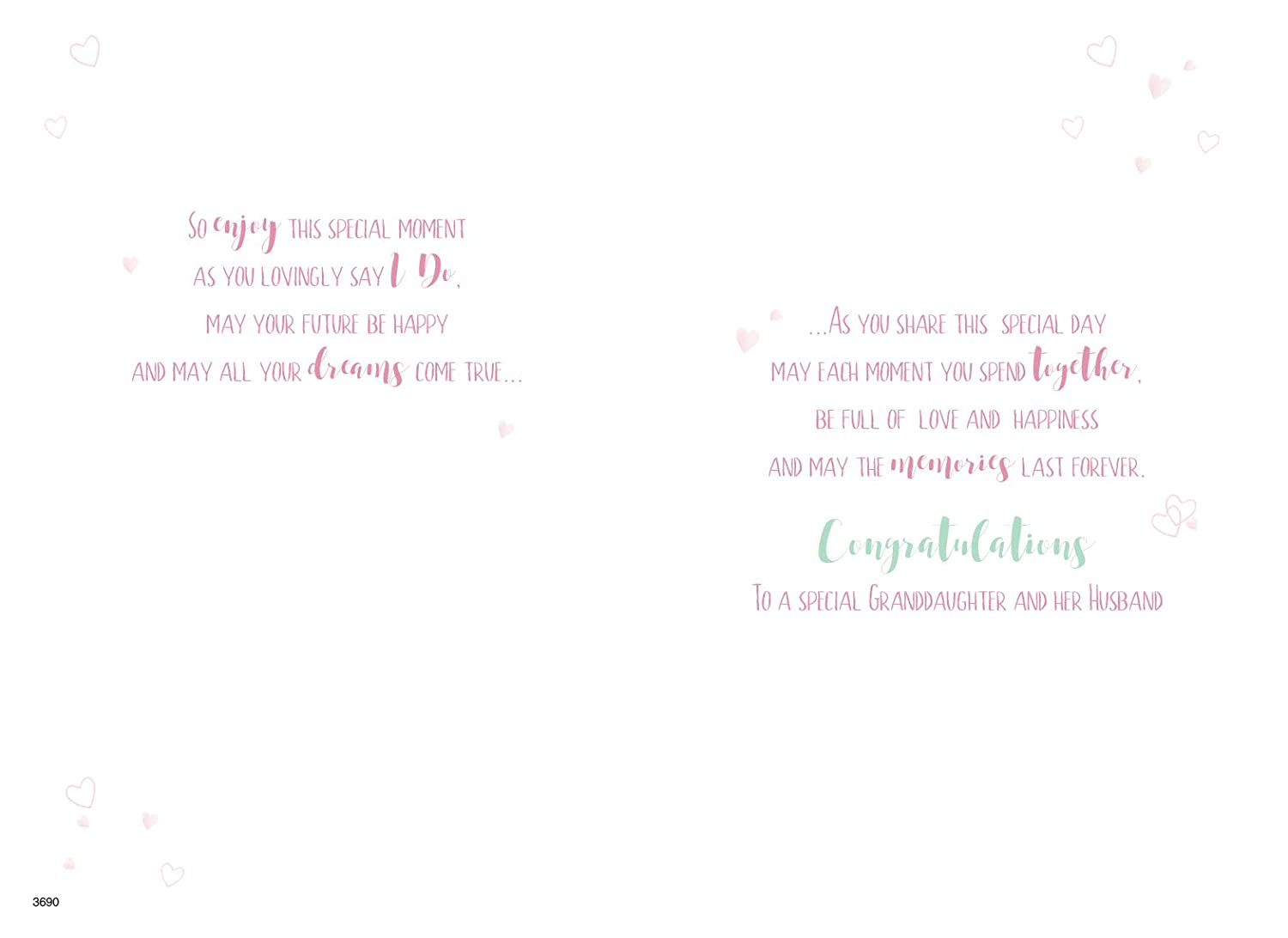 Wedding Arch Couple ICG Special Granddaughter and Husband On Your Wedding Day Card