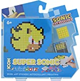 STiKidotz 3D Pixel Art Set with Icon Sonic design Super Sonic