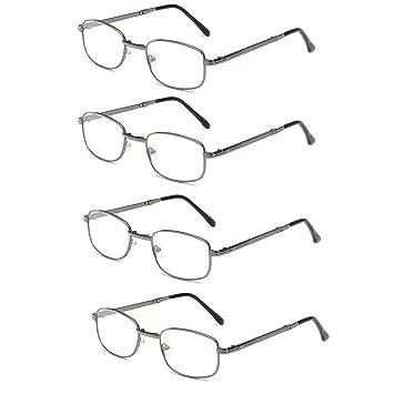 Men's Glasses Men's Reading Glasses Full Metal Frame Resin Lenses Comfy Light Glasses For Men Women Reading Glasses 1.0 1.5 2.0 2.5 3.0 3.5 4.0