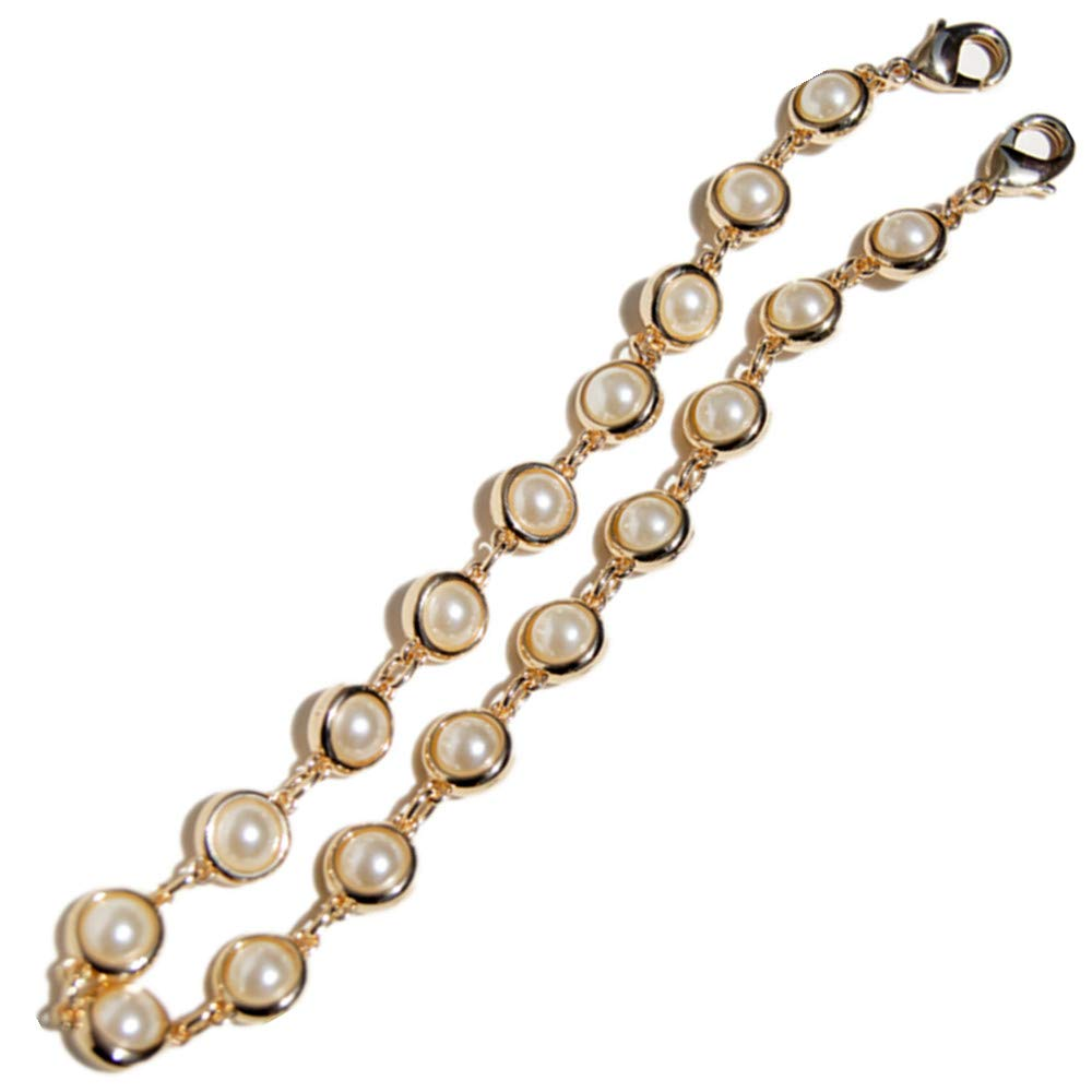 Many Pearl Pendant Pendant Wide 14mm Golden Chain Strap for Replacement Women Bags Shoulder Bags Handbags Messenger Bags Purse Bags (Length 40 cm)