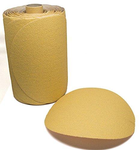 6'' Discs on a Roll - PSA Gold DA Sanding Paper (100 Discs - 80 Grit) by Benchmark Abrasives
