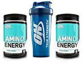 Optimum Nutrition Essential Amino Energy 2 Flavor Value Pack (30 Serv Each) for Mental Focus, Energy + Post-Workout Recovery + 28 oz ON Logo Blender Bottle (Blueberry Mojito) Review