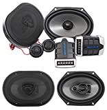 6 x 8 component speakers package - Pair Rockville RV68.2C 6x8 / 5x7 Component Speakers+6x8 Coaxial 3-Way Speakers