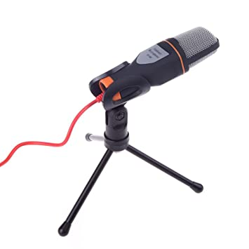 Rumfo Condenser Microphone with Tripod Stand, 3 5mm Plug