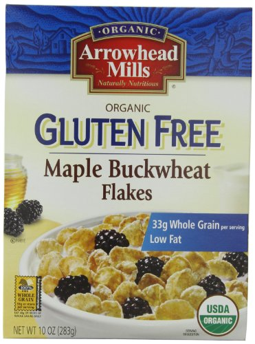 Arrowhead Mills Gluten Free Cereal, Organic Maple Buckwheat Flakes, 10 Ounce (Pack of 12) Arrowhead Mills Hot Cereal