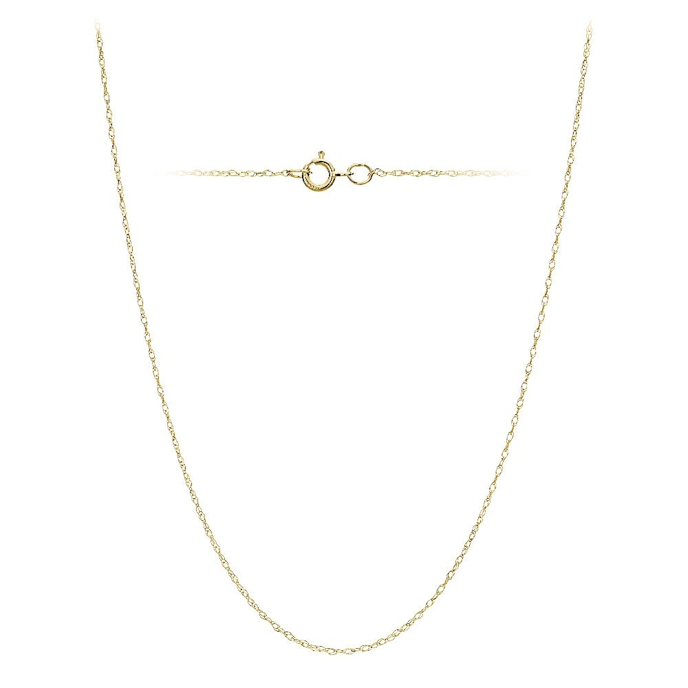 20 Inches 18 Bria Lou 14k White or Yellow Gold .7mm Rope Chain Necklace 16