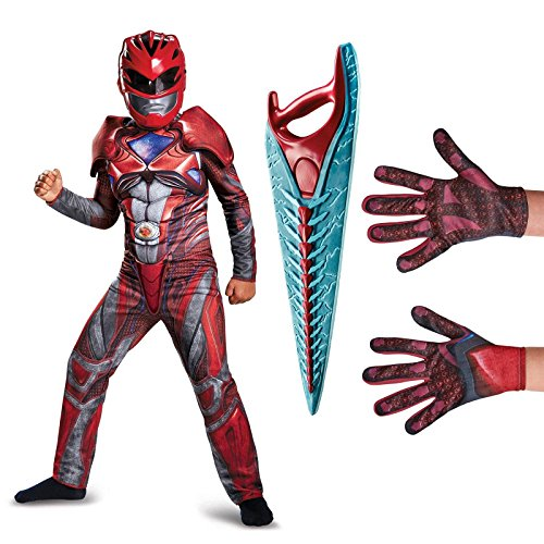 Power Ranger Outfit (Power Rangers Movie Red Ranger Children's Classic Muscle Costume Kit M)