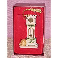 Lenox Holiday Home Grandfather Clock Christmas Ornament New in Box