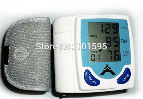 Skuleer(TM)High-Accuracy Digital Liquid Crystal Display Screen Blood Pressure Monitor Heart Beat Pulse Machine -
