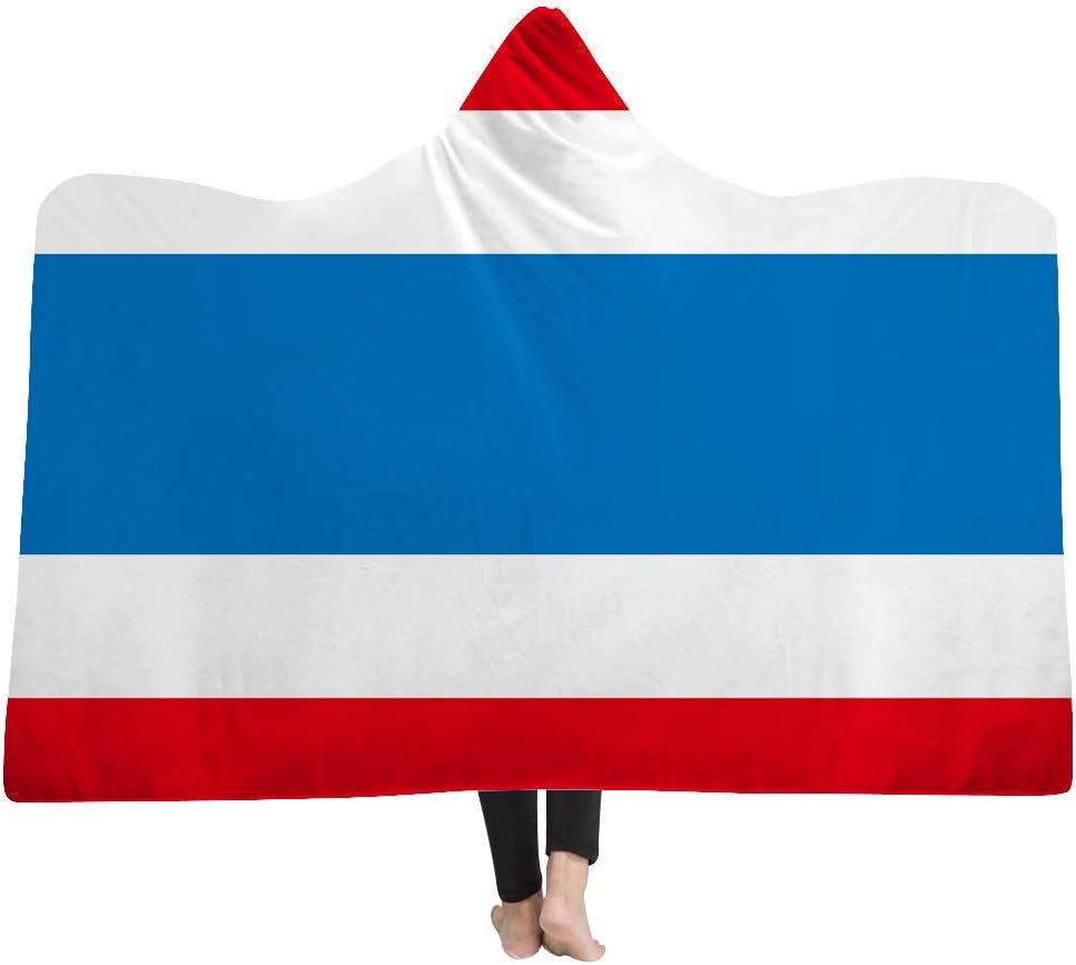 DOTBUY Manta con Capucha, Bandera Nacional 150 x 200 cm Niños y Adultos Microfiber Manta Capa Gruesa y cálida Capa cómoda y cómoda colchoneta de Felpa. (150 x 200 cm, Tailandia): Amazon.es: Hogar