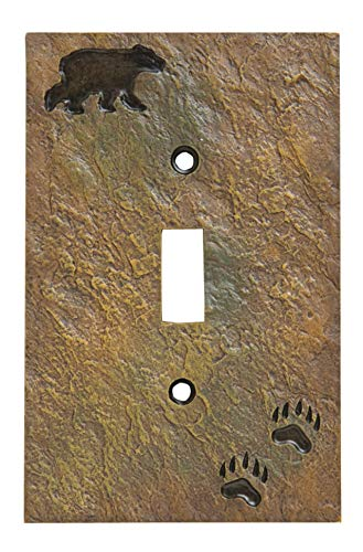 (Big Sky Carvers 30170437 Bear and Tracks Single Switch Plate)