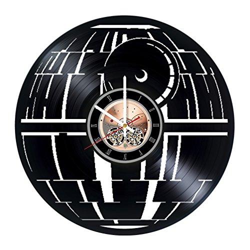Death Star Vinyl Record Wall Clock- Get unique Home Room decor - Gift ideas for men and women, friends – Epic Franchise Unique Wall Art