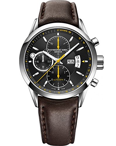Raymond Weil Freelancer Automatic Watch, Black, Chronograph, Day and date (Wrist Raymond Watch Weil Date)