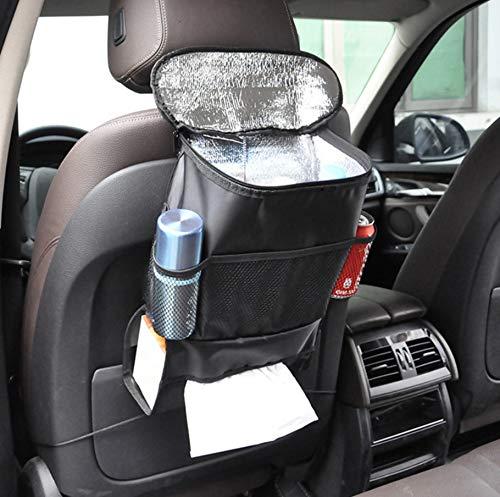 BAYLI K/ühltasche f/ür Autositz R/ücksitztasche Thermotasche f/ür die Lange Reise Auto R/ückenlehnentasche mit K/ühlfach und Getr/änkehalter KFZ R/ücksitz-Organizer Iso Tasche