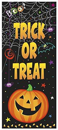 Plastic Pumpkin Pals Halloween Door Poster, 60