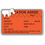 Medication Added Labels with Zig-Zag Perforation 2.5''W x 1.5''H