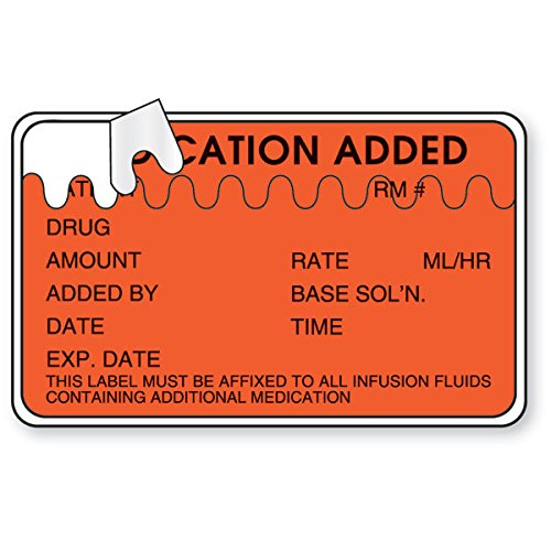 Medication Added Labels with Zig-Zag Perforation 2.5''W x 1.5''H by CeilBlue