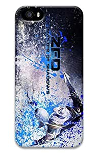 iPhone 5S Case, iPhone 5S Cases - Anti-Scratch Shell Case for iPhone 5/5s with Zed League Of Legends Game 1 3D Print Pattern Protective Back Hard Bumper Case for iPhone 5/5S
