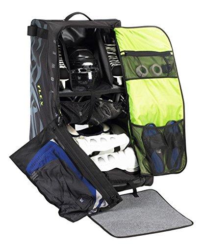 Grit Inc. Flex Hockey Tower Medium Equipment Bag 33-Inch, Black FLX1-033-B by Grit (Image #5)
