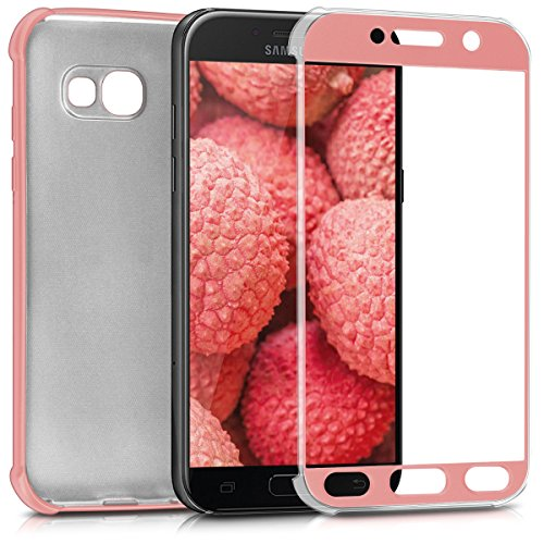 kwmobile Cover for Samsung Galaxy A5 (2017) - Smartphone Case TPU Silicone - Back Cover metallic rose - Frame Parts Of A