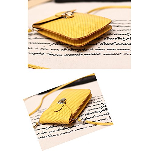 Mini Shoulder Phone Mobile Yellow Hot Bag Bag New Demarkt Woven Fashion Wallet BfxqEW4fw