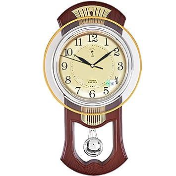 vanme Reloj de pared Mode Retro salón Relojes colgante adorno de jardín creativo europeo colgante reloj de pared madera: Amazon.es: Hogar