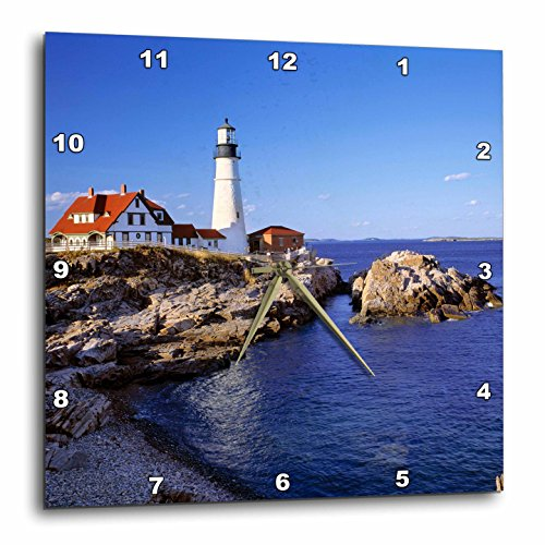 3dRose DPP_90758_2 Maine, Portland Head Lighthouse-US20 RER0011-Ric Ergenbright-Wall Clock, 13 by 13-Inch