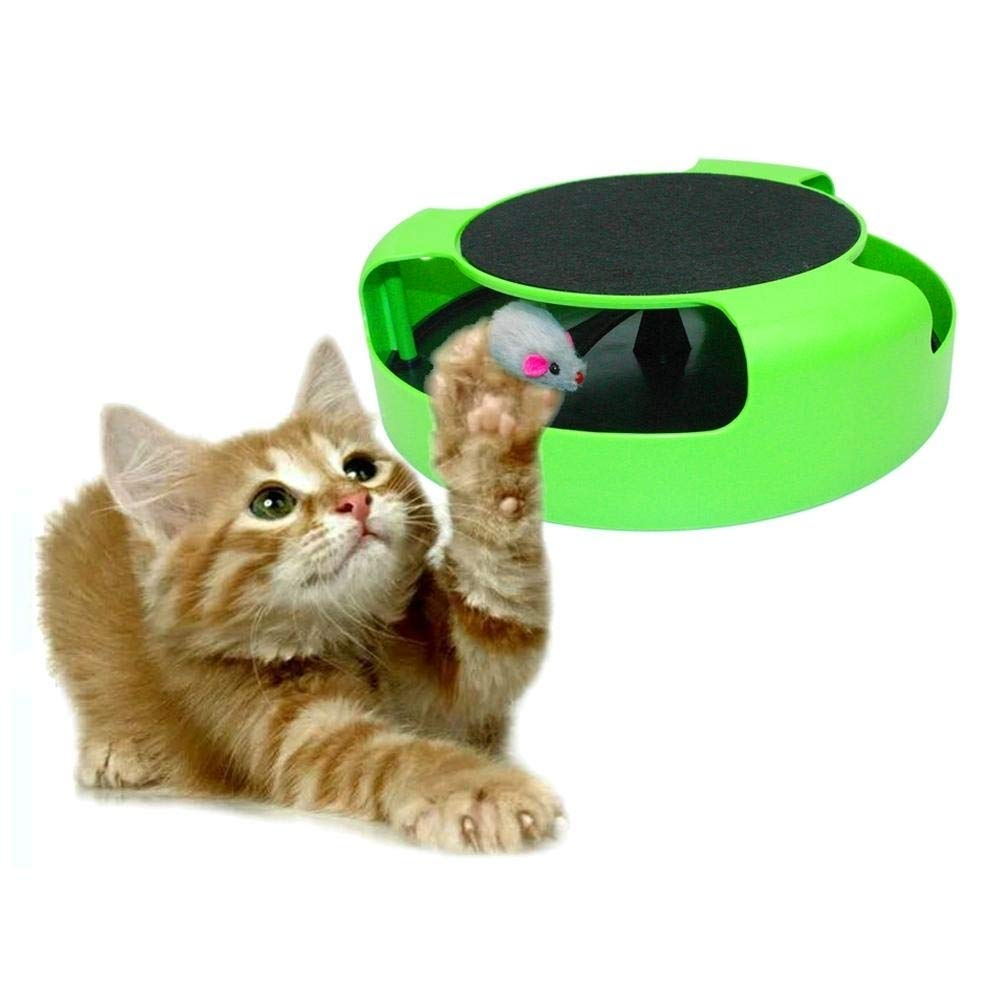 XHD-pet supplies Pet Supplies Cat Fictile Catch the Mouse Synergistic Turntable Pet Toys high quality