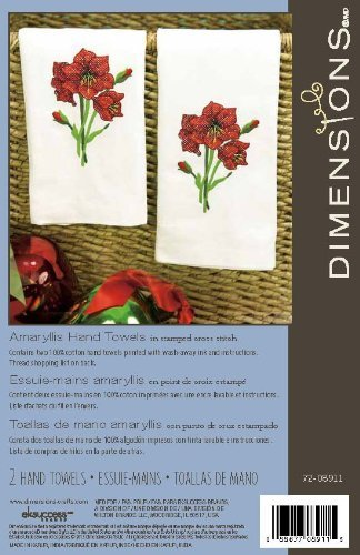(Dimensions Crafts Stamped Cross Stitch Guest Towels, Amaryllis)