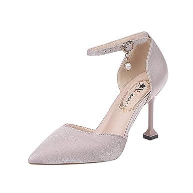 fd658a204b8f6 Amazon.com: Women's Ladies Fashion Pointed Toe Thin High Heel ...
