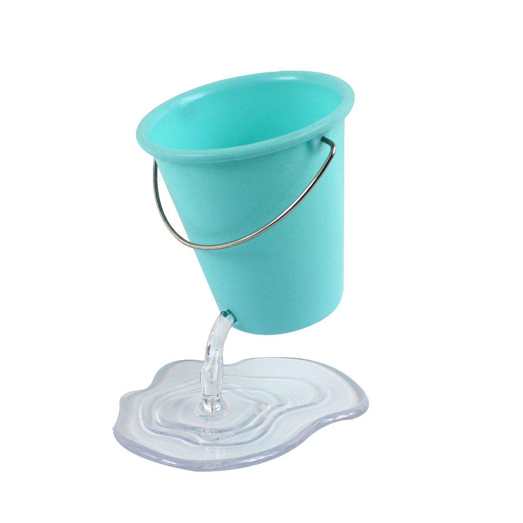 Zoohot - Portapenne di design a forma di secchio sospeso, grazioso accessorio da scrivania Rosa zyohot XPST018