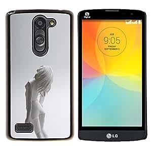 Qstar Arte & diseño plástico duro Fundas Cover Cubre Hard Case Cover para LG L Prime D337 / L Bello D337 (Mujer Android)