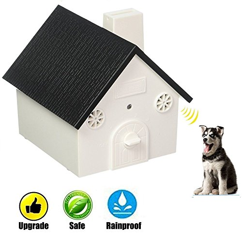 CY Ultrasonic Anti Barking Device Outdoor Bark Controller Sonic Bark Deterrent Silencer No-Bark Training Tool for Dogs Yard Indoor&Outdoor Use Up To 50 Feet Effective (Black) by YC°