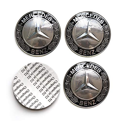 MonboAuto 4PCS 2.56 65MM Emblem Badge Sticker Wheel Hub Caps Centre Cover fit for