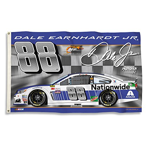- NASCAR Dale Earnhardt Jr. Earnhardt 2-Sided Flag with Grommets, Blue, /3' x 5'