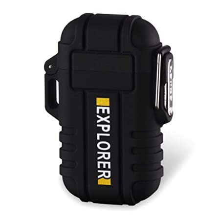 Plasma de mechero Viajes acoplador de Fuego Starter para Senderismo Resistente al Agua Dual ARC Lighter sin Llama USB Recargable Barbacoa Yeleo Trosetry Mechero Cocina de Gas