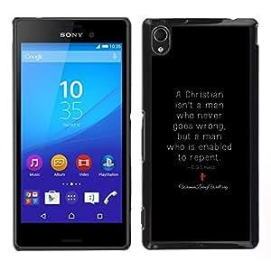LOVE FOR Sony Xperia M4 Aqua Repent Christian God Religion Religious Personalized Design Custom DIY Case Cover