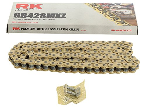 New RK GB428MXZ Chain 134 Link for Yamaha YZ 85 02-17, YZ 80 80-01, XT 350 85-00, XT 250 08-17, XT 225 92-07, TW 200 Trailway 87-17, TTR 225 99-04, TTR 125 L Disc Brake 00-08