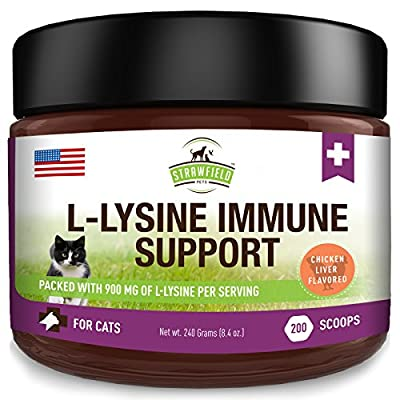 Cat Health Products Lysine for Cats – L Lysine Powder Cat Supplements – 900mg, 200 Scoops – Llysine Ki [tag]