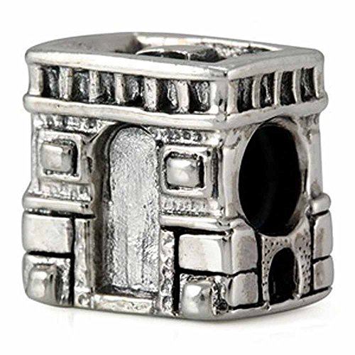 Ohm Sterling Silver Arc de Triomphe Bead Charm