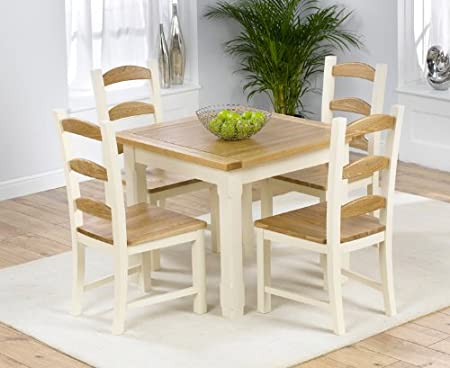 Terrific Eton Solid Pine 90Cm X 90Cm Dining Table With 4 Eton Chairs Dailytribune Chair Design For Home Dailytribuneorg