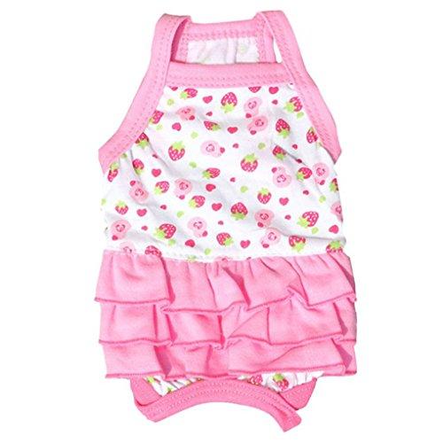 Pet Dress,Haoricu Pink Cute Cotton Sweet Suspenders Skirt Pet Small Dog Dog Tutu Dress Pet Clothing (S, (Dresses For Dogs)